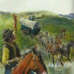 Illustration de couverture de « La Vie quotidienne des conquérants du Far West » de Jean-Louis Rieupeyrout, chez Hachette (en 1983).