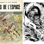 Couverture et une illustration de Pierre Forget pour un roman de science-fiction de la collection Jamboree, en 1955.