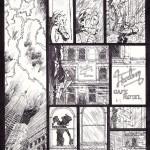 """Deux intriductions pluvieuses, dans les tomes 2 (""""Lettres à Satan"""", 1988, dessin de Warnant - planche 2 originale encrée) et 8 (""""Tuez en paix"""", 1996, dessin de Gazzotti - planche 1 originale encrée)"""