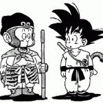 Sangoku face à son homologue chinois dans un dessin parodique de Toriyama.