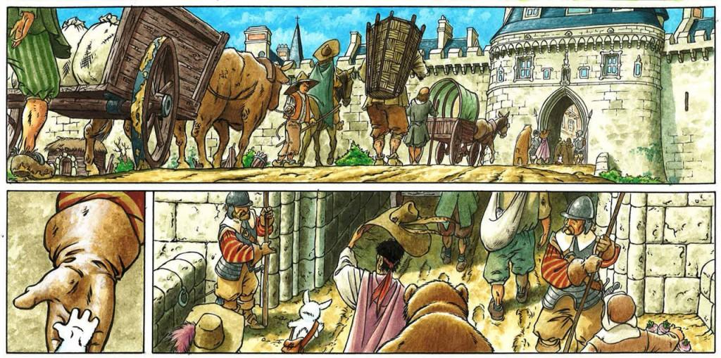 Eusèbe à Paris - Extrait de la planche 10 (Delcourt, 2014)