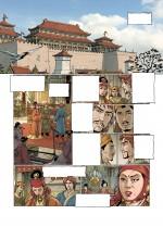 Planche 9 du tome 2, montrant la ville de Khanbalik/Cambaluc, devenue l'actuelle Pékin