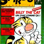 """Couverture de Spirou Magazine, le 15 mars 1989, annonçant la prépublication du tome 1, """" Dans la peau d'un chat """""""
