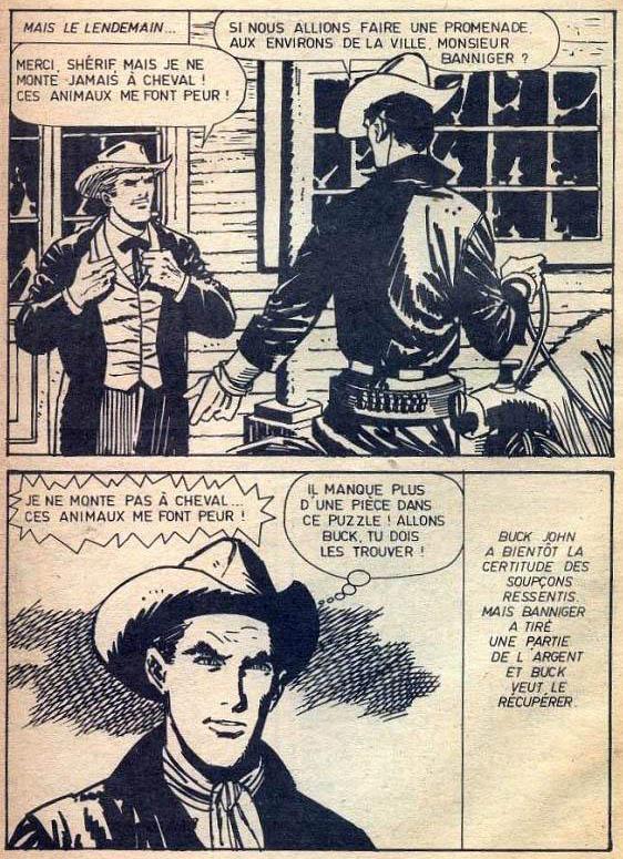 Une page de « Buck John » par Bob Leguay dans le pocket éponyme publié par Impéria.