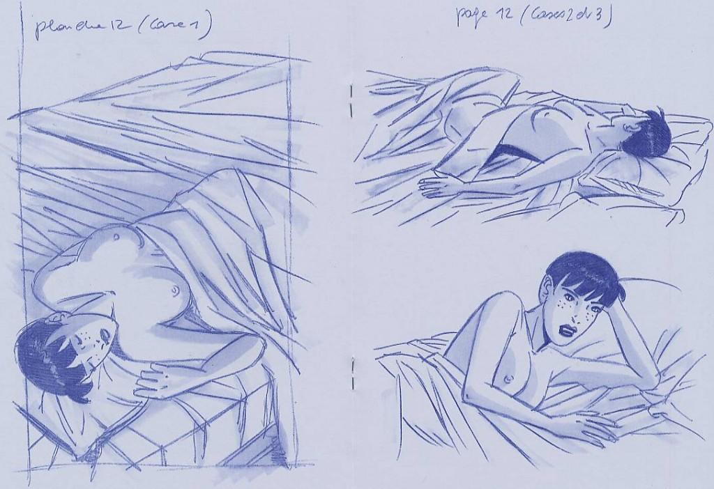 « Esquisses pour Caroline Baldwin » chez Point image, en 2001.