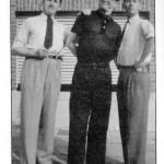 Van Melkebecke au milieu de Jacobs et Hergé.