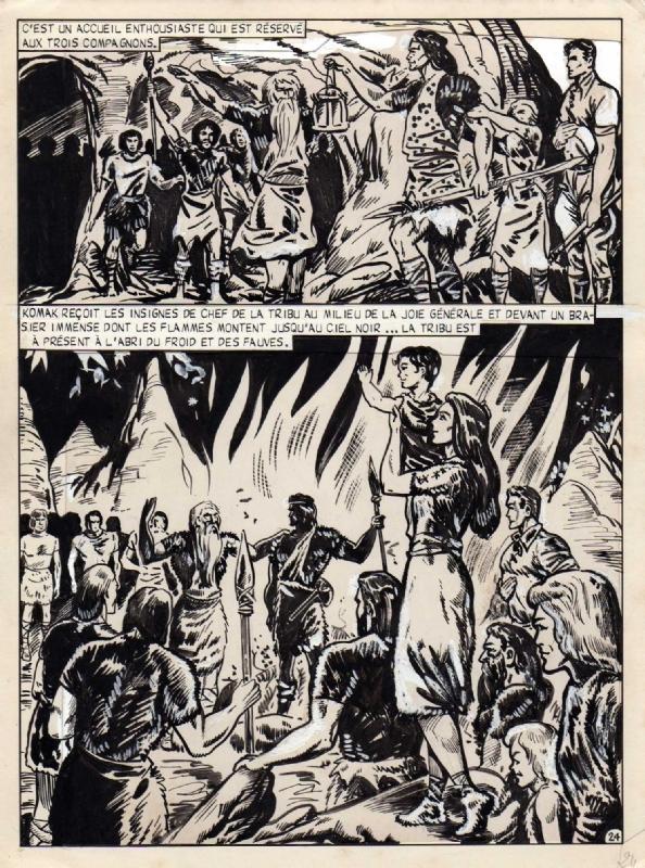 Planche originale de « Tim l'Audace » par Bob Leguay.