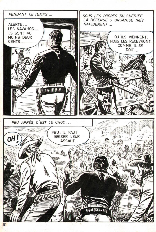 Planches originales de « Buck John » par Bob Leguay pour les pockets Impéria.