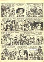 Une planche originale des « Aventures de Tex Ripper le Champsaurin ».