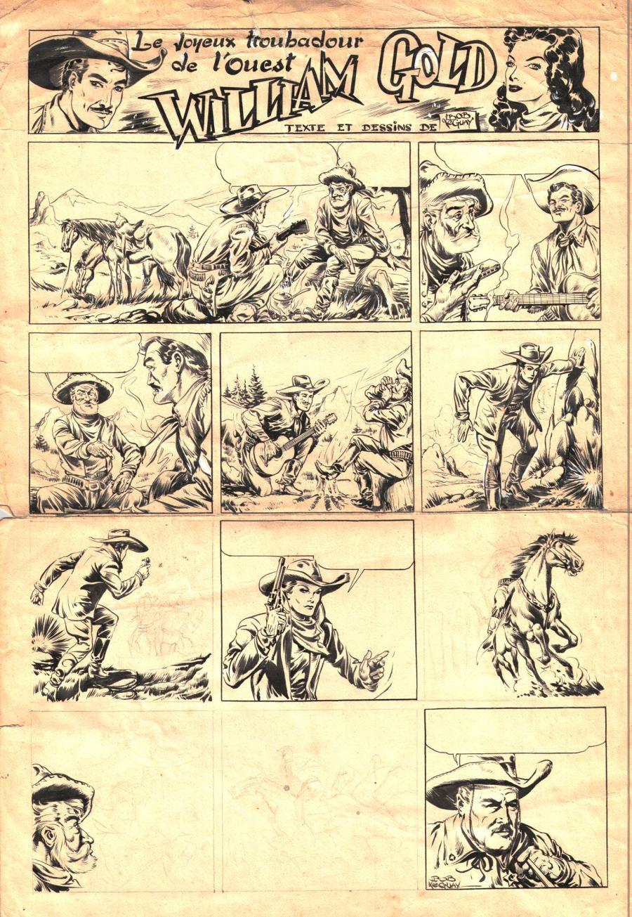 Une autre planche originale de Bob Leguay réalisée à l'époque des éditions de Nice.