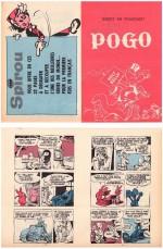 Couverture et extrait du mini-récit paru dans Le Journal de Spirou en 1967.