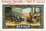 Affiche réalisée en 1901 pour une production jouée au Théatre de l'Illinois à Chicago