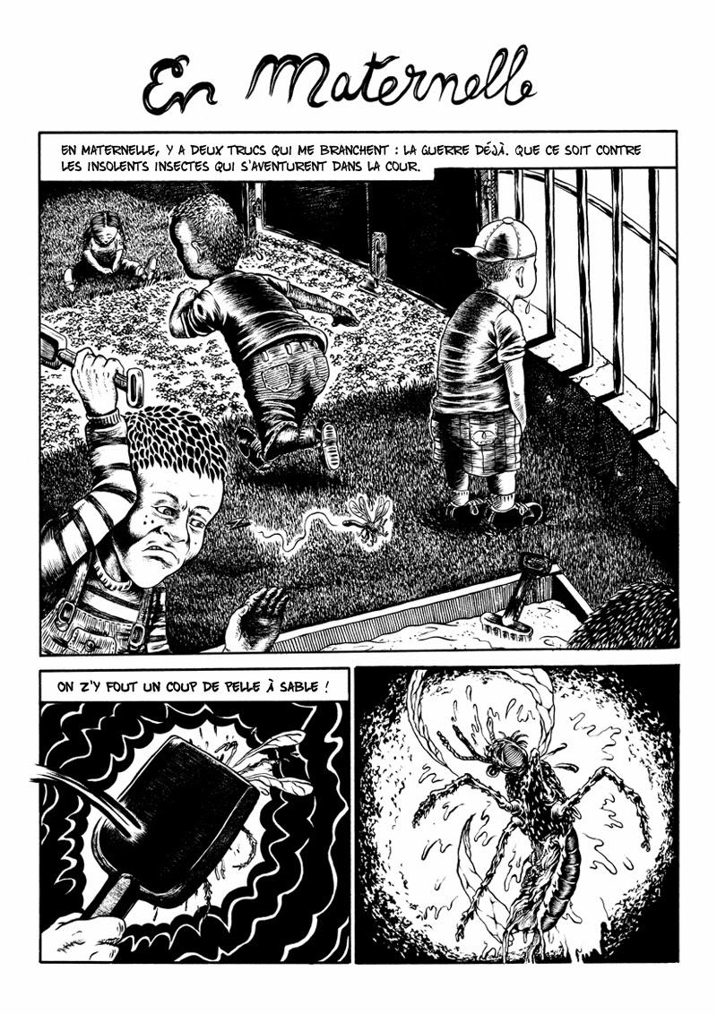 « En maternelle » par Les Frères Guedin, dans le n° 6.