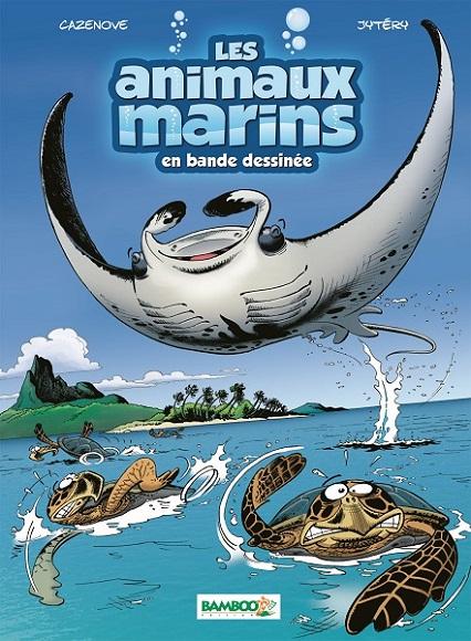 couverture les animaux marins en bande dessinée T 3