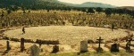 Les 10 000 tombes du décor du cimetière de Sad hill, à la fin du Bon, la Brute et le Truand
