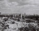 Quelques tombes éparses : cimetière de Terlingua (Texas)