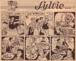 Un extrait d'une page de gags de « Sylvie » datant de 1953 : peut-être un scénario de Charlier ,