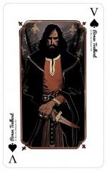 Visuel de carte dde la collection Carte Blanche - Première donne (BDNET) : chaque carte à jouer est signée/numérotée (100 exemplaires).