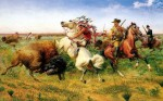 """The Great  Royal Buffalo Hunt"" par Louis Maurer (1895)"