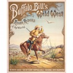 """The White Eagle"" - Buffalo Bill' Guiding and Guarding - Affiche Hoen & Co. (Baltimore ) créée en 1893 pour l'Exposition Universelle de Chicago."