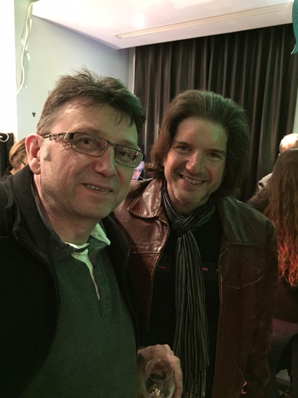 Gilles Ratier, en compagnie de Charlie Adlard, à Angoulême