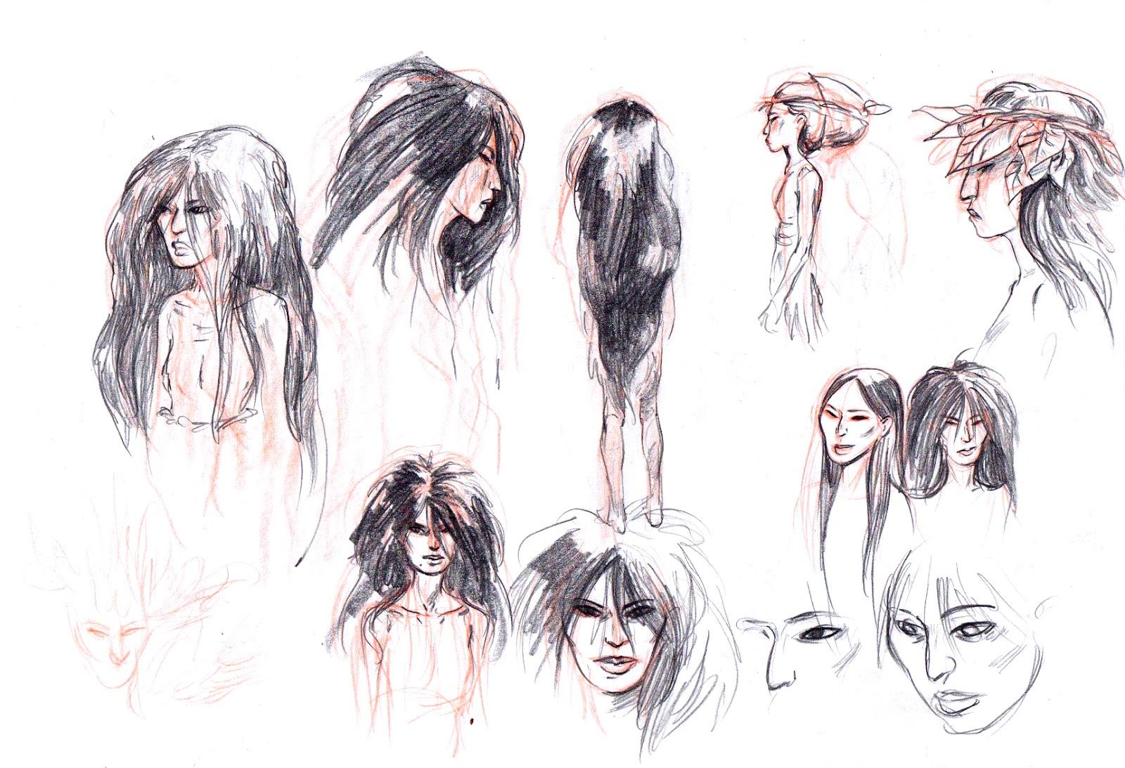 Recherches pour les personnages par G. Hersent