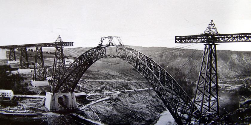 Construction du Viaduc de Garabit (1883)