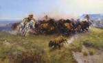 """The Buffalo Hunt"" par Charles Marion Russell (1919)"