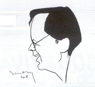 Caricature de Jean Acquaviva.