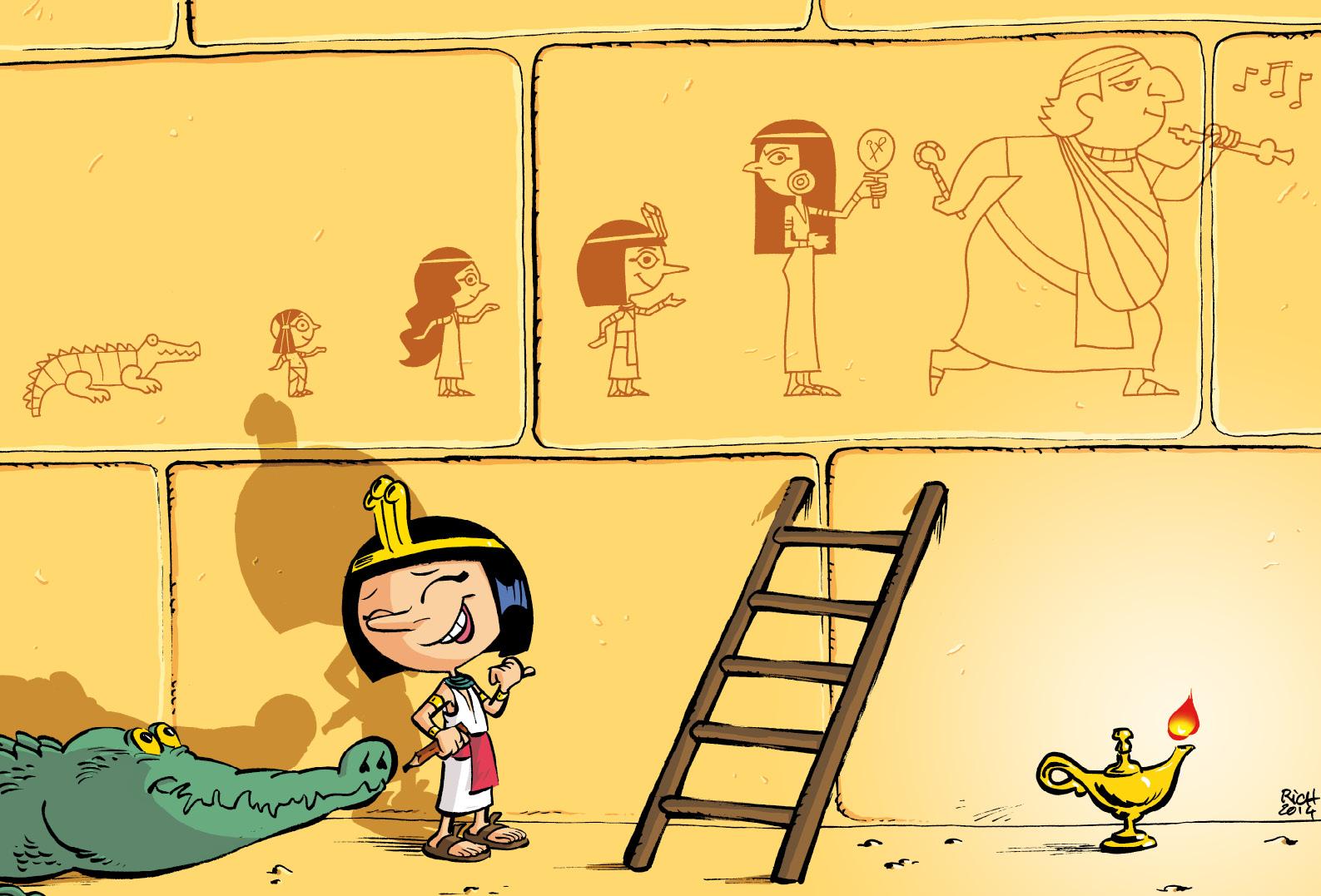 Cléo la petite pharaonne page de garde