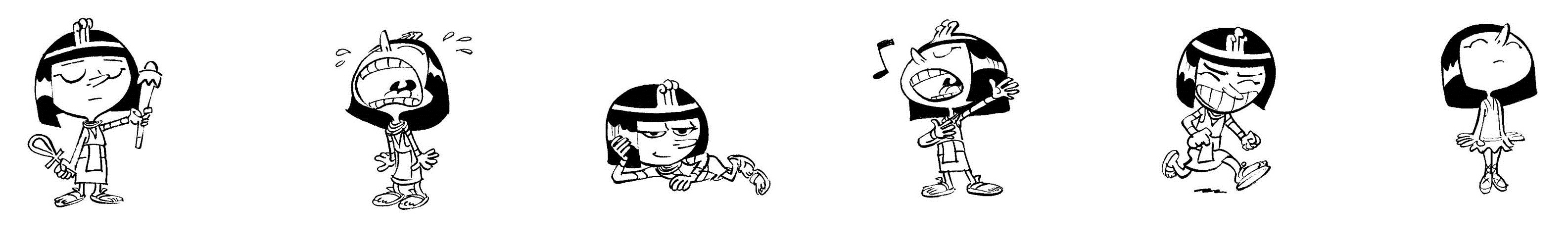 Cléo la petite pharaonne, pictogrammes 2