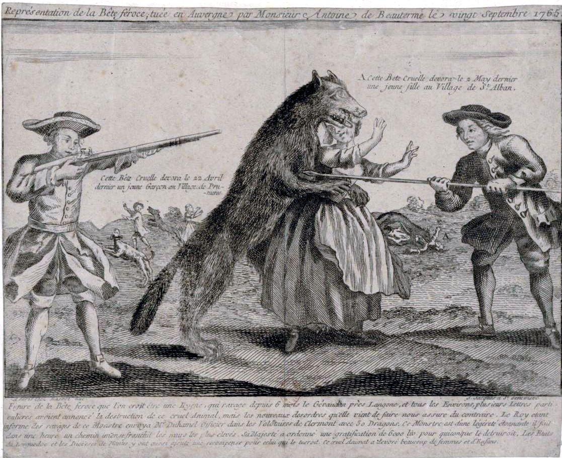 Figure de la Bête féroce que l'on croit être une hyène (1764) - BNF