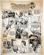 Hogarth - planche de « Tarzan » de 1948 – lot 135