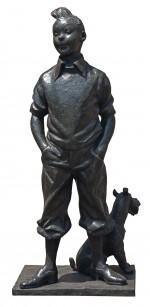 Neujean – statue bronze de Tintin de 180 cm – lot 127