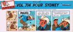 Un extrait de « Vol 714 pour Sydney » dans le journal Tintin.