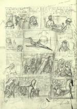 Études et crayonnés pour la page 11 de l'album.