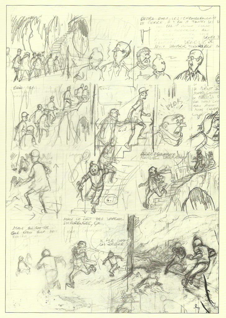 Crayonné de la page 11 de l'album.