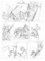 Crayonnés préparatoires des planches 1 et 28