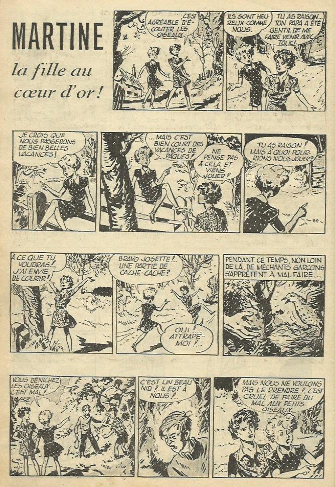 « Martine, la fille au cœur d'or » par Steve Dowling et Bill Connor.