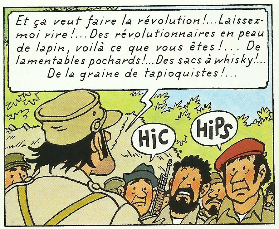 Le général Alcazar dans « Tintin et les Picaros ».