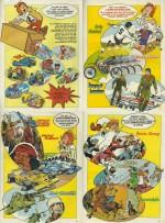 Publicités pour des autocollants avec les héros du journal publiées du n° 36 au n° 40.