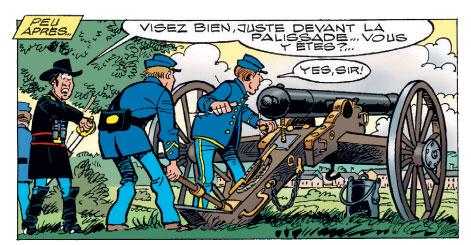 Les Tuniques bleues présentent dessin canon