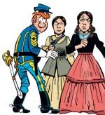 les Tuniques bleues présentent femmes et Chesterfield