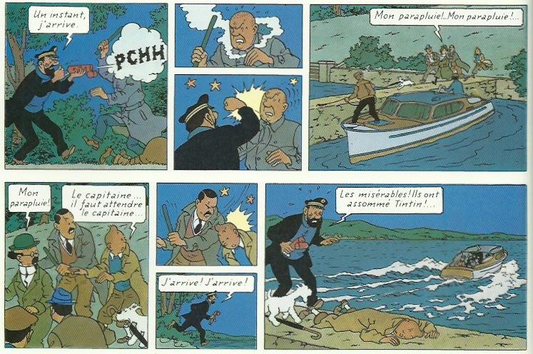 Extraits de « L'Affaire Tournesol » page 30.