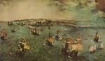 Le port de Naples par Pieter Bruegel l'ancien, vers 1588. Certains détails des navires se retrouvent en couverture...