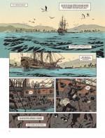 Le début d'une tragédie : l'embarquement des esclaves (Planche 2 - Savoia et Dupuis 2015)