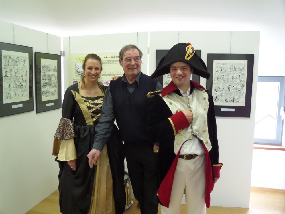 Jacques Sandron dans l'exposition qui lui a été consacrée.