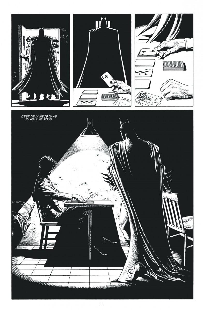Le superbe rendu du dessin de Brian Bolland en noir et blanc