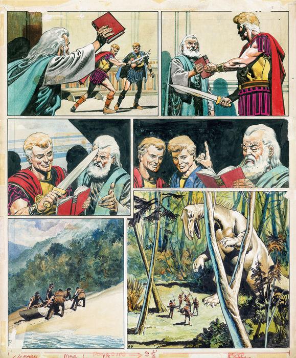 Planche originale de « Trigan Empire » (1969).