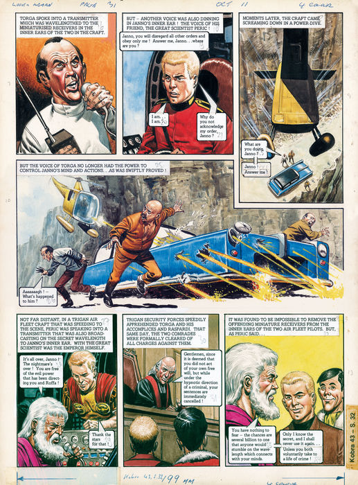 Planche originale de « Trigan Empire ».